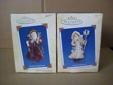 Hallmark Keepsake Father Christmas Ornaments Collector's Series 2004-2005