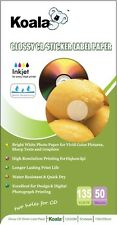 CD & DVD Glossy Sticker Label (100) Paper 135gsm Dye-based Inkjet. Free software