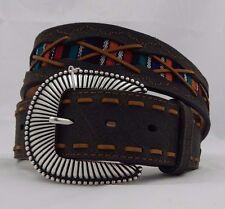 Tony Lama SOUTHWEST PONCHO Leather  Belt Size 30  NWT  C42033