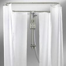 Duschvorhang-Stange 165 x 70 cm Ø 20 mm weiß Winkelstange Bade-Wanne Dusche