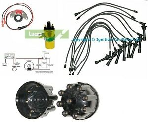 DAIMLER V8 SP250 Dart Majestic  Electronic ignition HT Leads coil Cap & Rotor