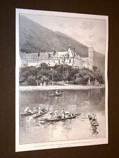 Lago di Bourget e Abbazia d'Altacomba nel 1904 Monumenti Antenati dei Savoia