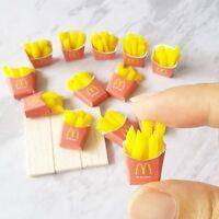 10x Mini Mcdonald French Fries Dollhouse Miniatures Food Barbie Supply Decor New