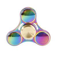 Rainbow Alloy Hand Spinner Tri Fidget Focus Toy EDC Finger Gyro Autism ADHD