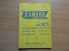 Parts list catalog catalogue Teile Katalog Yamaha RD 50 M (2L4, 2L7, 2L8)