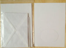 6 x Karten Kartenpapier Umschlag Scrapbooking Passepartout Gegenblatt Hülle