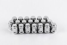 "Set 20 14mm x 1.5 Chrome Bulge Lug Nuts 3/4"" Hex 1.4"" Tall Solid 1-Piece W1014H"
