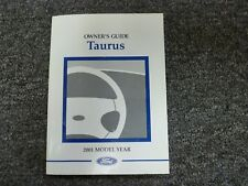 2001 Ford Taurus Sedan Wagon Owner Manual User Guide Book LX SES SE SEL 3.0L V6