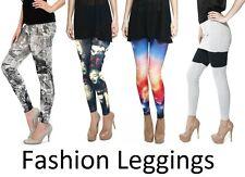 NEW Women's Leggings Jeggings Full Print Length Skinny Graphic Stretchy Gym Yoga
