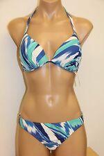 NWT ANK Mirla Sabino Swinwear 2 Piece Bikini Set Sz XL Blue