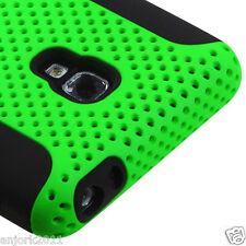 LG Optimus F6 D500 Hybrid Metro TMobile Mesh Case Skin Cover Green Black