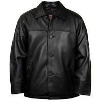 Leather 747 Black Genuine Cowhide Leather Men's Jacket