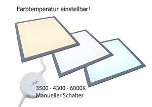 LED Panel Deckenleuchte Lampe BACKLIGHT für Rasterdecke 62x62 für Büro, Hotel