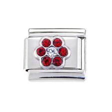 July red flower Italian Charm - fits 9mm classic Italian charm bracelets