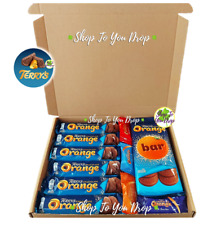 🍫🎁TERRYS CHOCOLATE ORANGE 8 BAR & SEGSATIONS GIFT HAMPER PERSONALISED BOX 🍫🎁