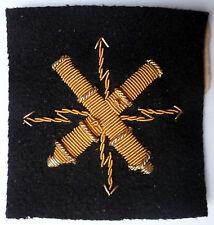 PROTOTYPE ESSAI or Insigne Marine tissu spécialité ELECTRICIEN D'ARMES variante