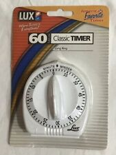 LUX Minute Long Ring Classic Timer Mechanical White 60 Min