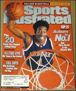 11/15/1999 Sports Illustrated Chris Porter Auburn Tigers All Century Tiger Woods