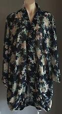 Lovely  Multi Coloured  SEVEN17EEN Floral Print Long Sleeve Kimono Size 14-18