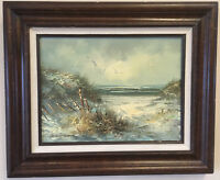 S. WEATHERMAN ORIGINAL OIL PAINTING Signed / Framed seascape seaside with COA