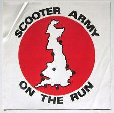 SCOOTER ARMY original 80's UK mod revial cloth backpatch NOS Vespa Lambretta