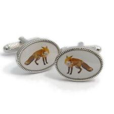 Excellent Fox Cufflinks by Onyx-Art of London British Wildlife Ck999