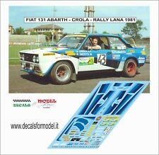 DECALS FIAT 131 ABARTH CROLA RALLY LANA 1981