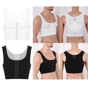 Mens Breathable Shapewear Gynecomastia Compression Shirts Chest Binder Vest Top