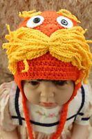 Cute Handmade The Lorax Baby Child Knit Crochet Hat Cap Photo Prop 0-4 Year New