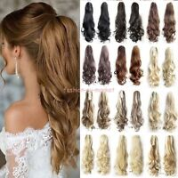 Thick Ponytail Clip in Hair Extension Claw Pony tail Clip on Extensions As Real