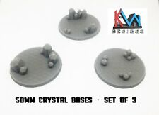 3D Printed - 50mm Scenic Crystal Cluster Bases Set of (3)