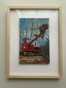 John Berry original illustration Ladybird Book The Roadmakers People at Work