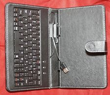 USB Connect Tilt Keyboard Cover Leather Case w/ Stylus For 7'' Inch Tablet PC