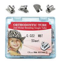 Dental Orthodontic Split Buccal Tube 2nd Molar Bonding 022 MBT 50 set/box Single