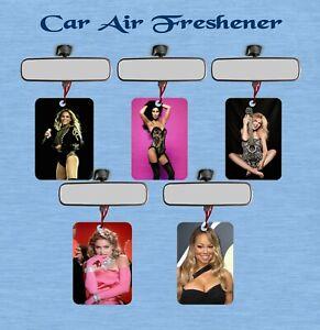 FEMALE RETRO POP MUSIC CAR/OFFICE/STUDY AIR FRESHENER SINGLE OR DOUBLE