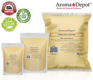 Ground Ginger Root Powder Up to 20 lbs Natural Raw Jengibre Non-GMO Kosher Bulk