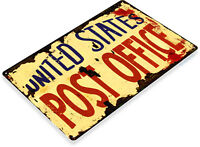 TIN SIGN United States Post Office Rustic Mail Sign A184