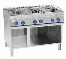 Cucina a Gas  6 Fuochi serie tecno74 vano a giorno Mod. PC12FC7 Tecnoinox