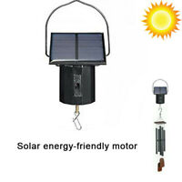 Motor Solar Powered Wind Spinner Hanging Metal Electric Tool