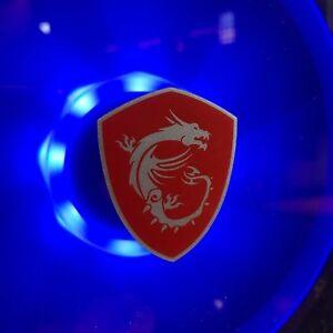 Genuine MSI Gaming Dragon Shield PC Case Sticker Badge - NEW