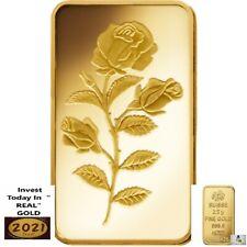 More details for gold bullion.999 rosa certicard suisse 1 bar x 2.5 gram in blister + cert/rare