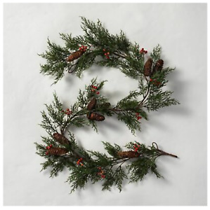 Hearth & Hand Magnolia Artificial Pine Garland Red Berry 6 Ft.  NWT Sold Out