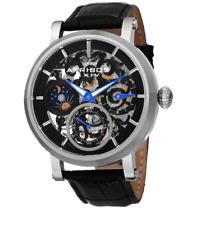 Akribos XXIV Mens AK745SSB Automatic Movement Leather Watch 0521