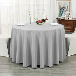 Polyester Rectangle Solid Color Tablecloths Wedding Party Banquet Events Decor