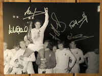 Tottenham Hotspur 1972 UEFA Cup Signed 16x12 Photo x5. PROOF See Them Signing