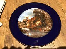 "Rosenthal Platter Plate Classic Rose Collection Cobalt Blue 10"""