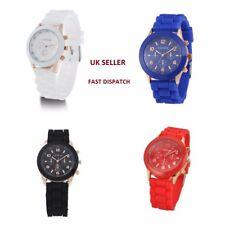 UK SELLER - Jelly SILICONE Sports Analogue Wrist Watch Geneva Men Ladies Kids