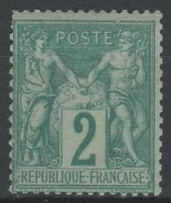 "FRANCE YVERT 62 SCOTT 65 "" PEACE AND COMMERCE SAGE 2c GREEN 1876 "" MNH VF M486"