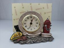Just In Time Clock Firefighter Figurine Vanmark Red Hats of Courage FM88027