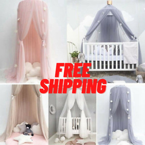 Kids Baby Bed Canopy Bedcover Mosquito Net Princess Curtain Bedding Dome Tent.